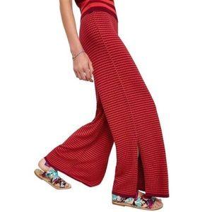 Zara Two Tone Flare Knit Pant - Size M